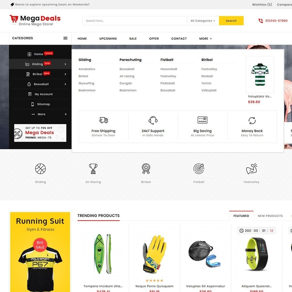 theme - Sport, Aktivitäten & Reise - Mega Sport Deals - 10