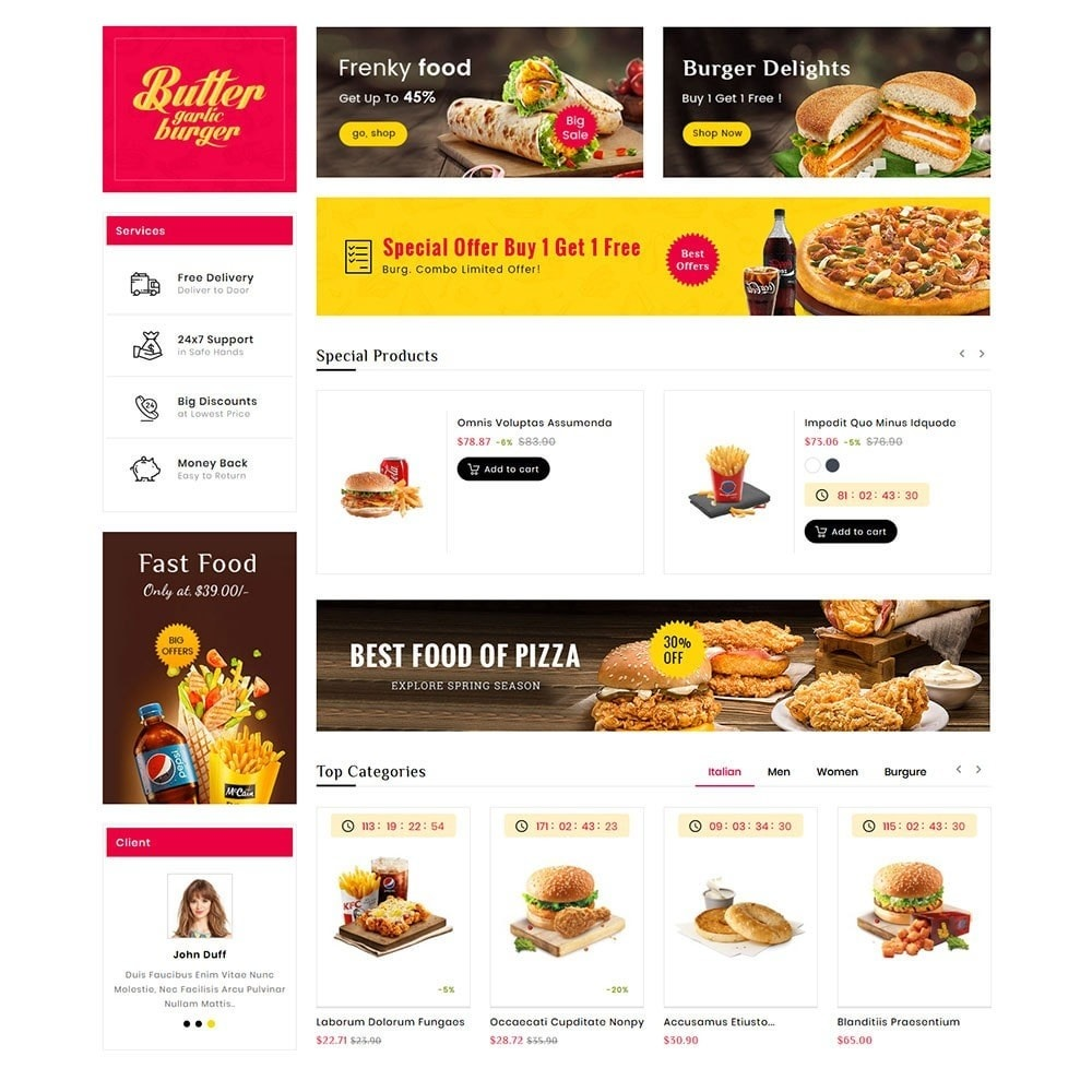 theme - Food & Restaurant - Fast Food Corner - 3