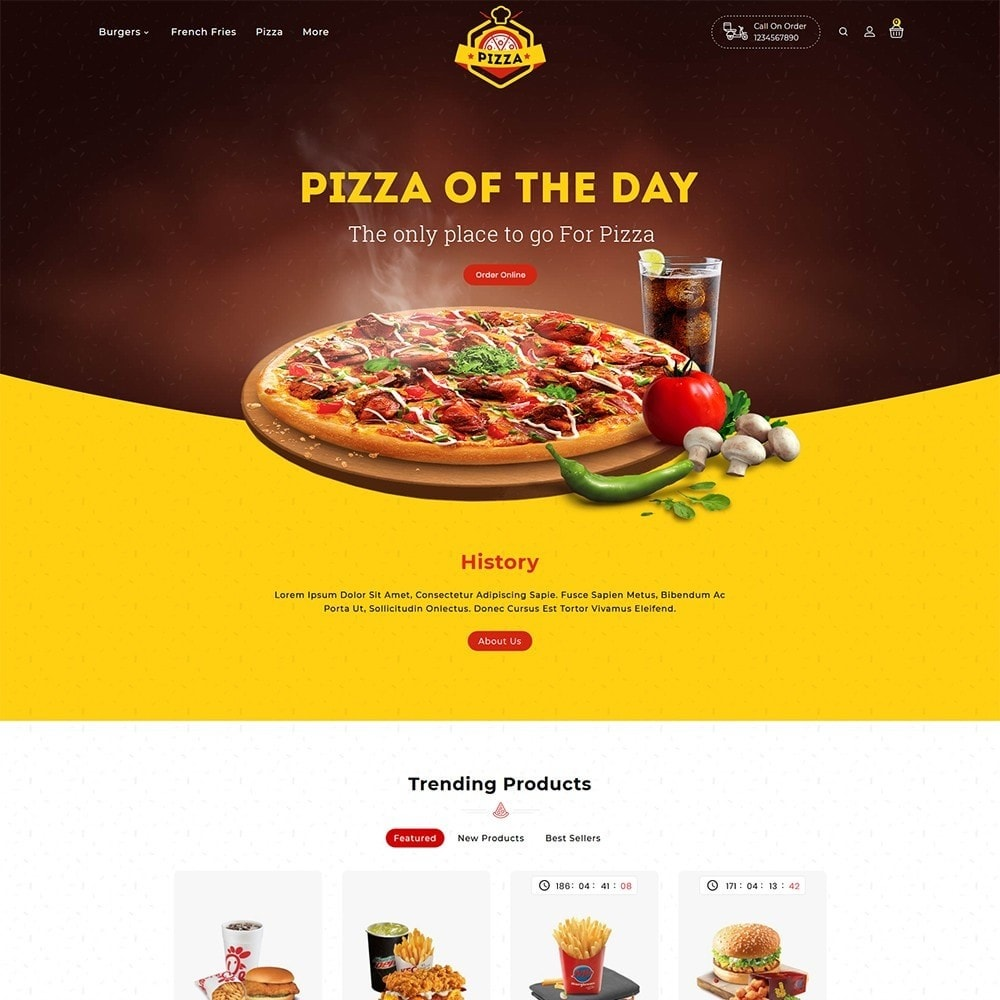 Pizza - Fast Food & Restaurant