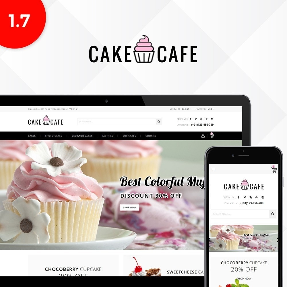 theme - Food & Restaurant - Cake cafe Store - 1