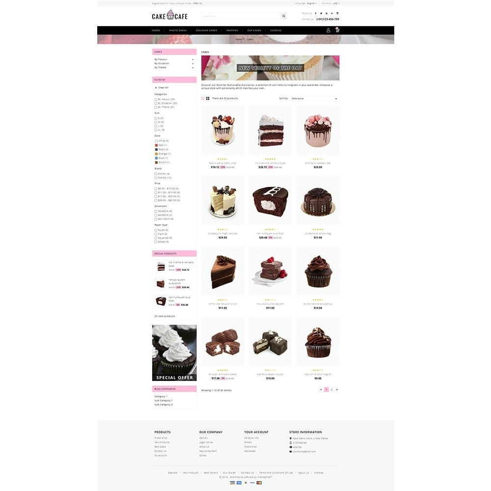 theme - Lebensmittel & Restaurants - Cake cafe Store - 3