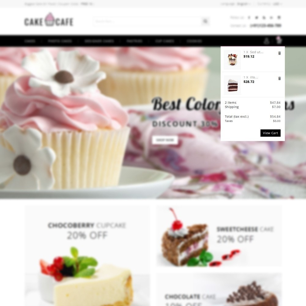 theme - Lebensmittel & Restaurants - Cake cafe Store - 8