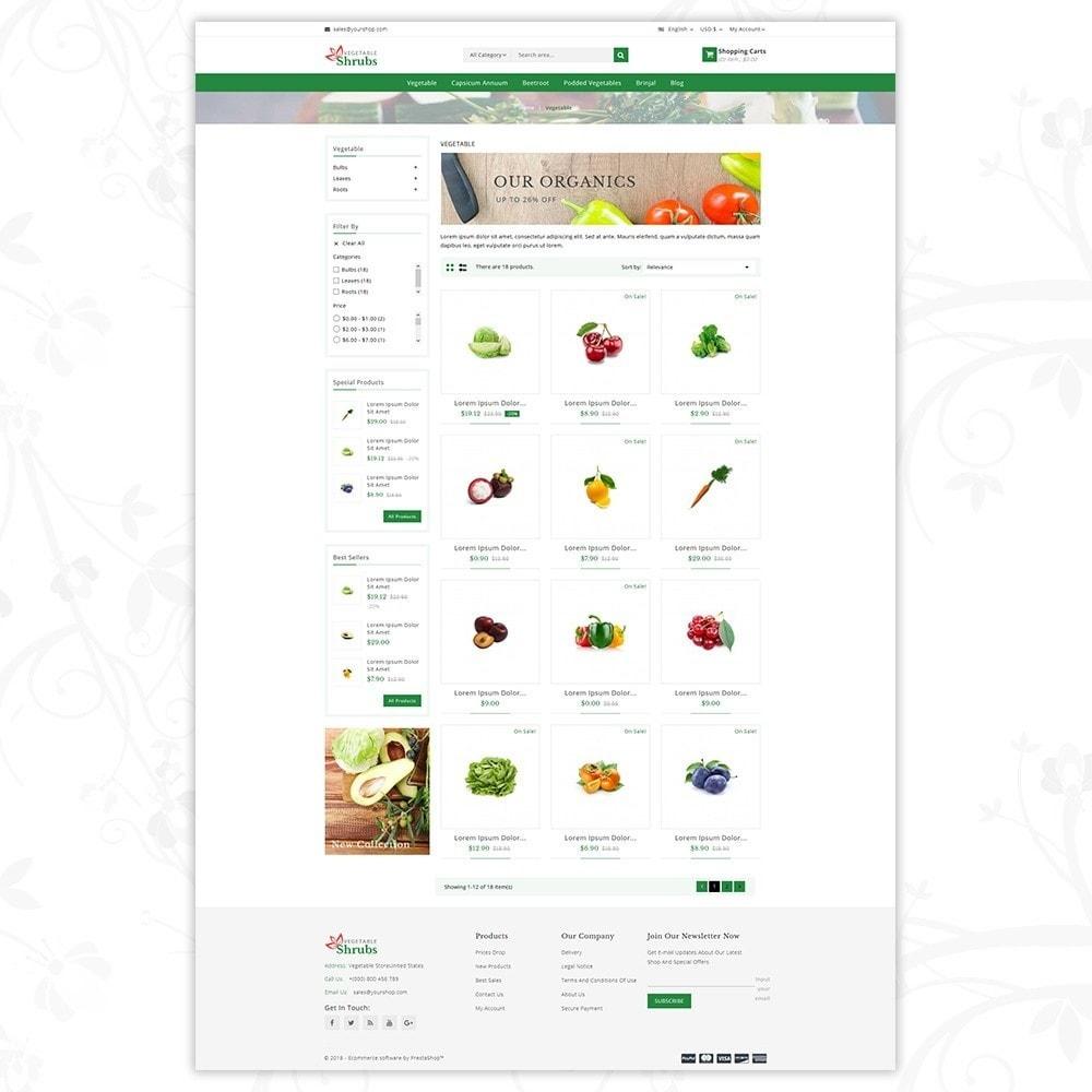 theme - Food & Restaurant - Vegetable Shrub - Organic Store - 3
