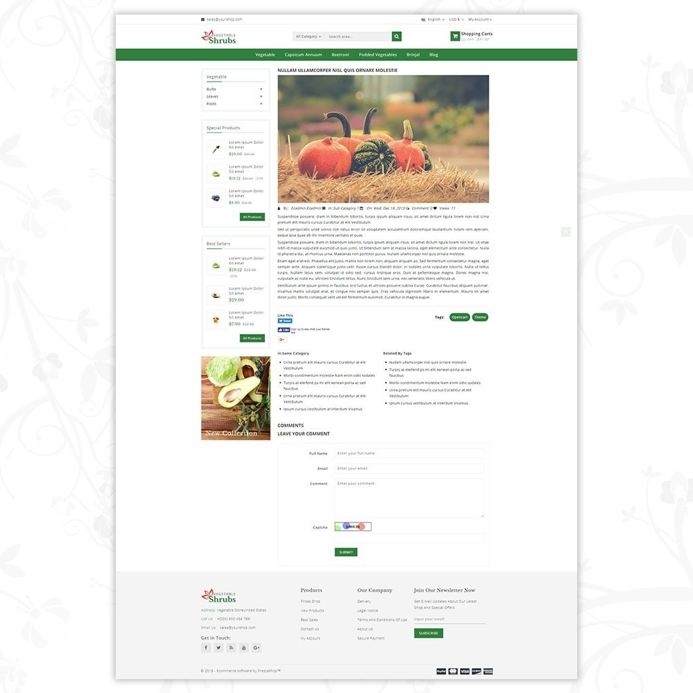 theme - Food & Restaurant - Vegetable Shrub - Organic Store - 8