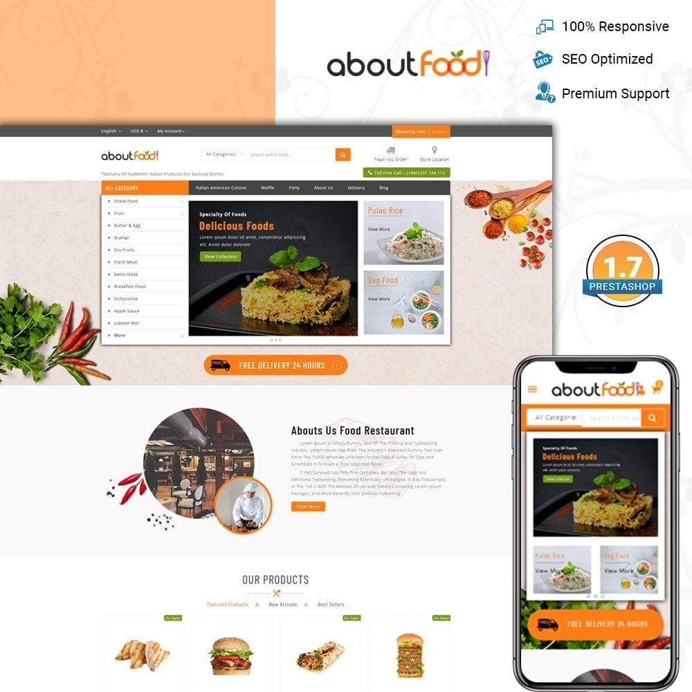 AboutFood - Food Store