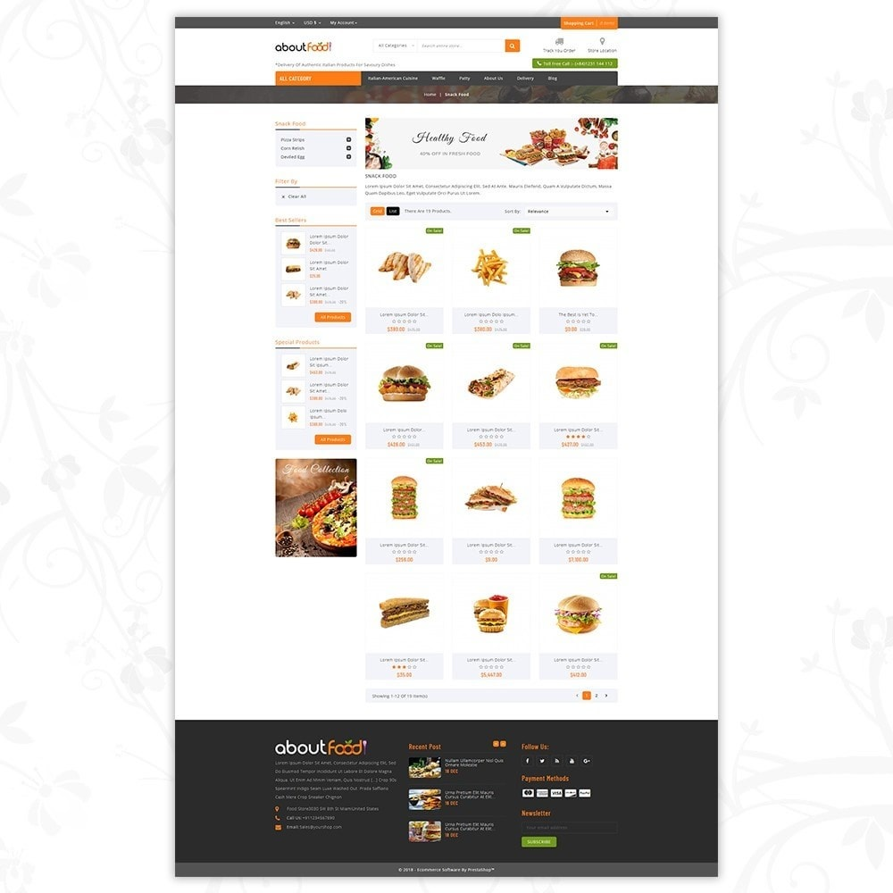 theme - Food & Restaurant - AboutFood - Food Store - 3