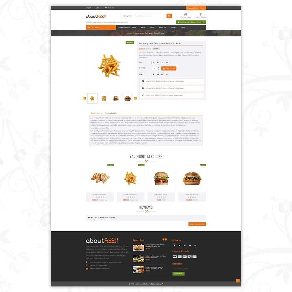 theme - Food & Restaurant - AboutFood - Food Store - 5