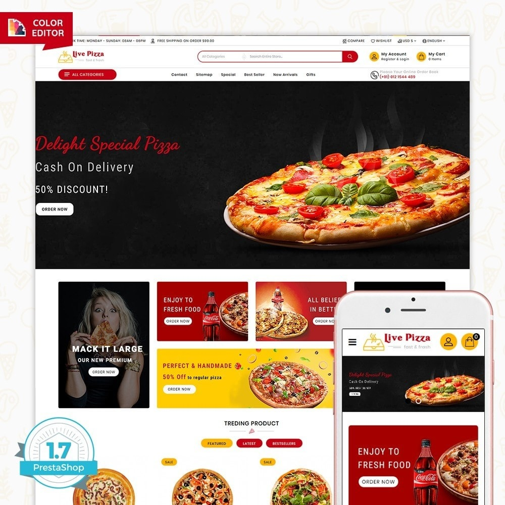 theme - Alimentos & Restaurantes - Live Pizza - Fast And Fresh Restaurant - 5