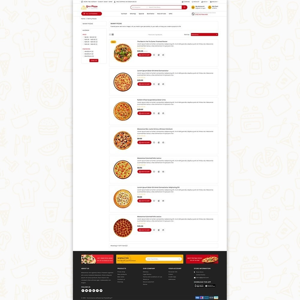 theme - Eten & Restaurant - Live Pizza - Fast And Fresh Restaurant - 5