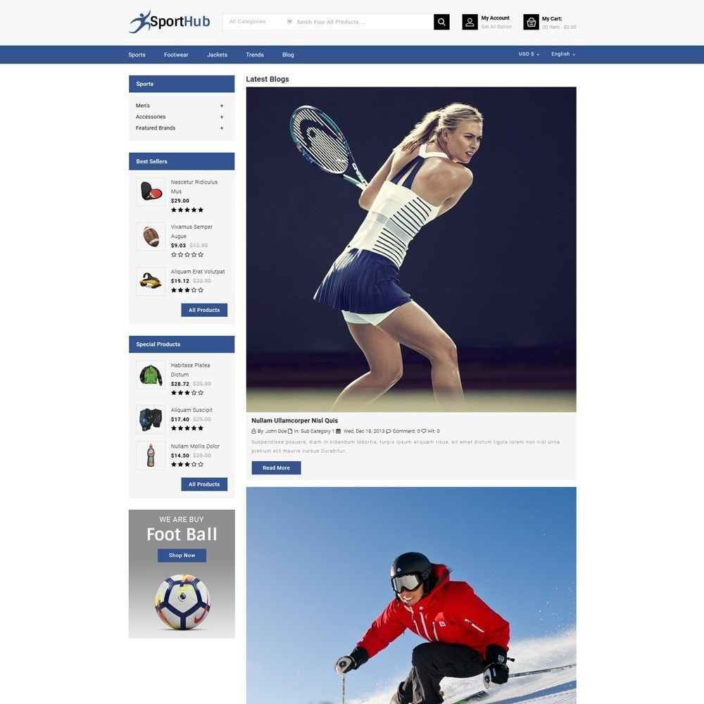 theme - Sports, Activities & Travel - Sport Hub Sports Store - 7