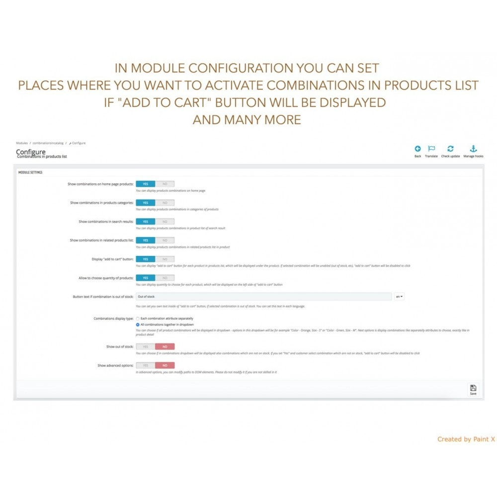 module - Combinations & Product Customization - Show Combinations Or Product Attributes In Product List - 4
