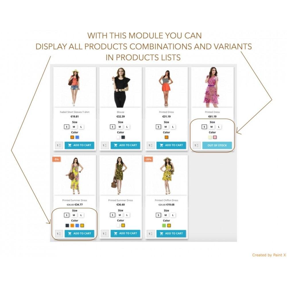 module - Deklinacje & Personalizacja produktów - Wyswietlenie atrybutow produktu na liście produktów - 1