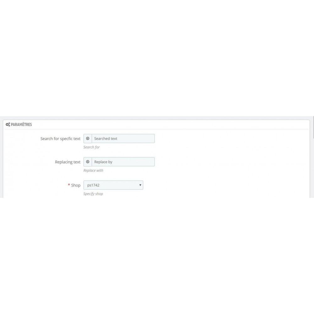 module - Recherche & Filtres - Rechercher remplacer - 1