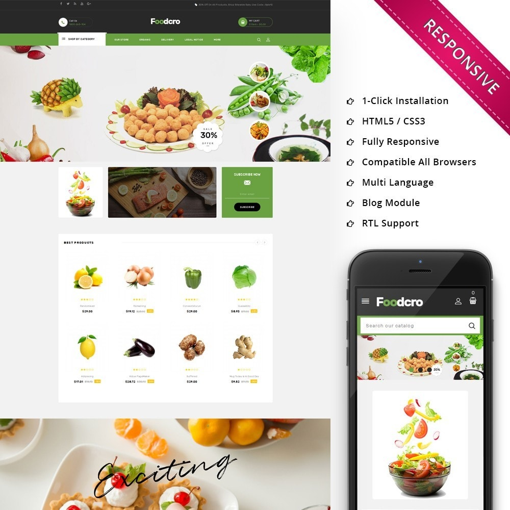 theme - Food & Restaurant - Foodcro - The Organic Food Store - 1