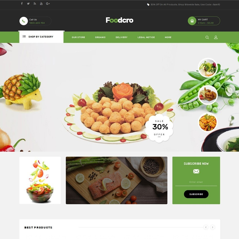 theme - Food & Restaurant - Foodcro - The Organic Food Store - 2