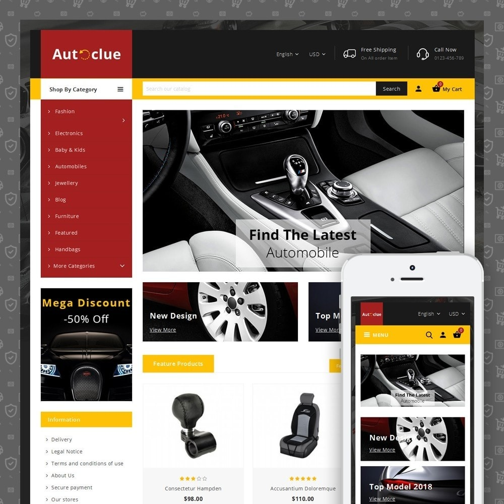 theme - Coches y Motos - Autoclue Store - 1