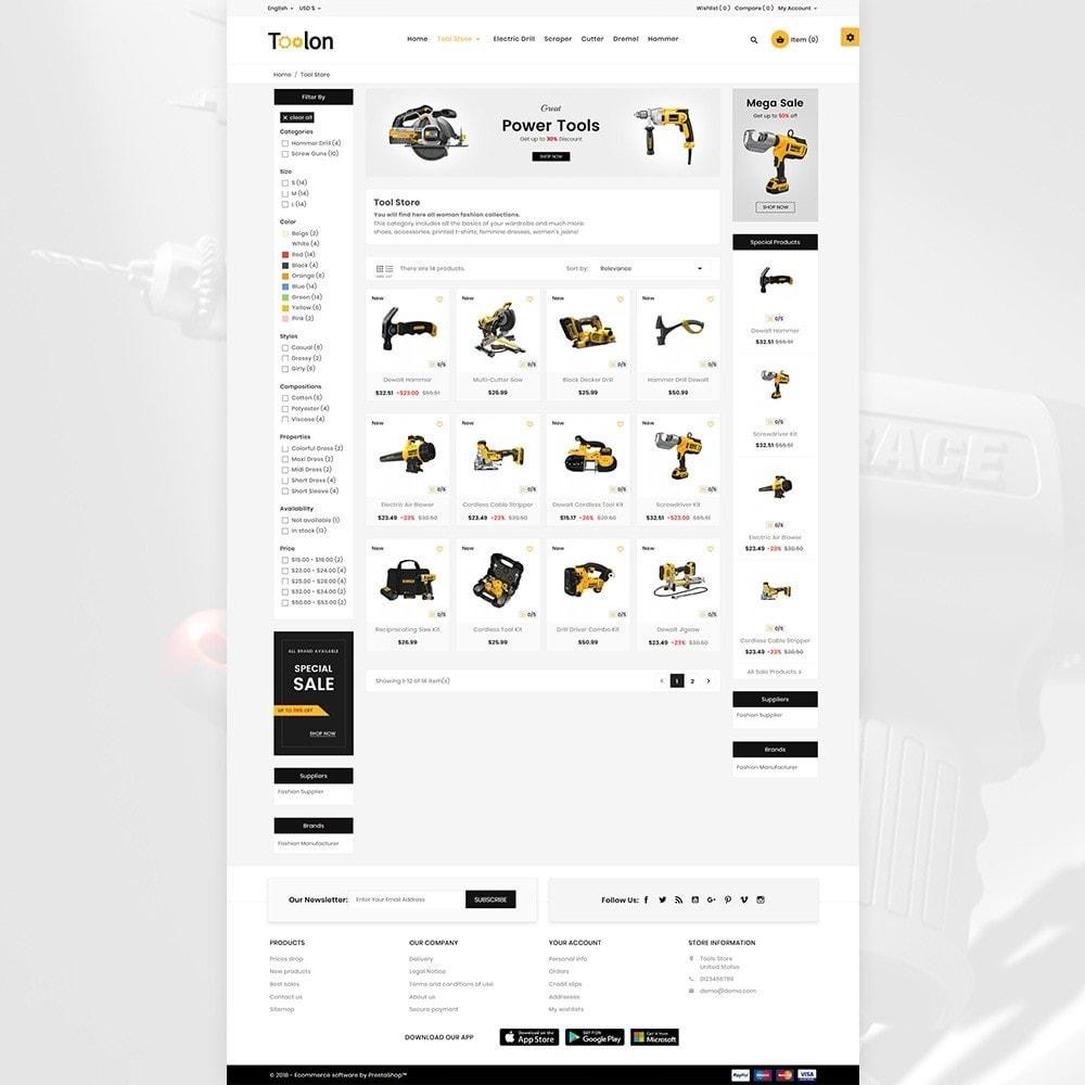 theme - Automotive & Cars - Toolen Mega Tools Super Store - 6