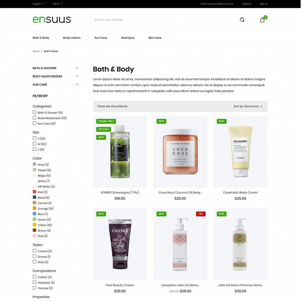 theme - Health & Beauty - Ensuus Cosmetics - 5