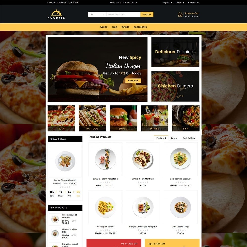 theme - Продовольствие и рестораны - Foodies Food Store - 2