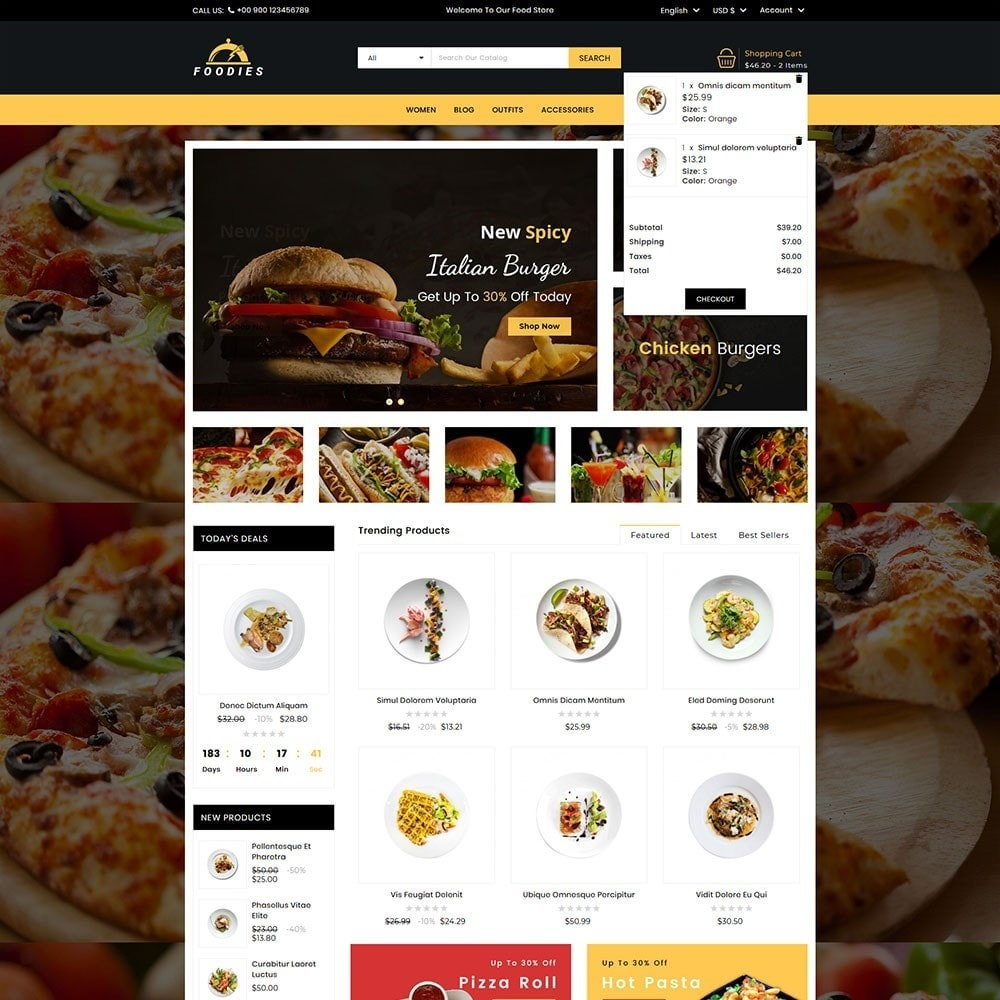 theme - Продовольствие и рестораны - Foodies Food Store - 3