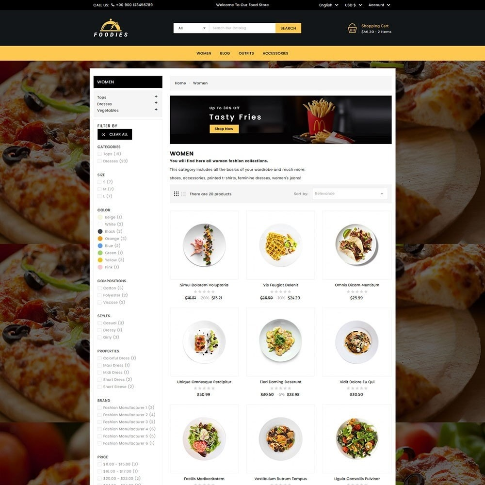 theme - Продовольствие и рестораны - Foodies Food Store - 5