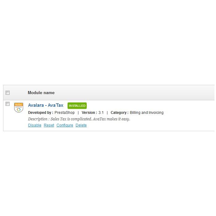 module - Accounting & Invoicing - Avalara - AvaTax - 4
