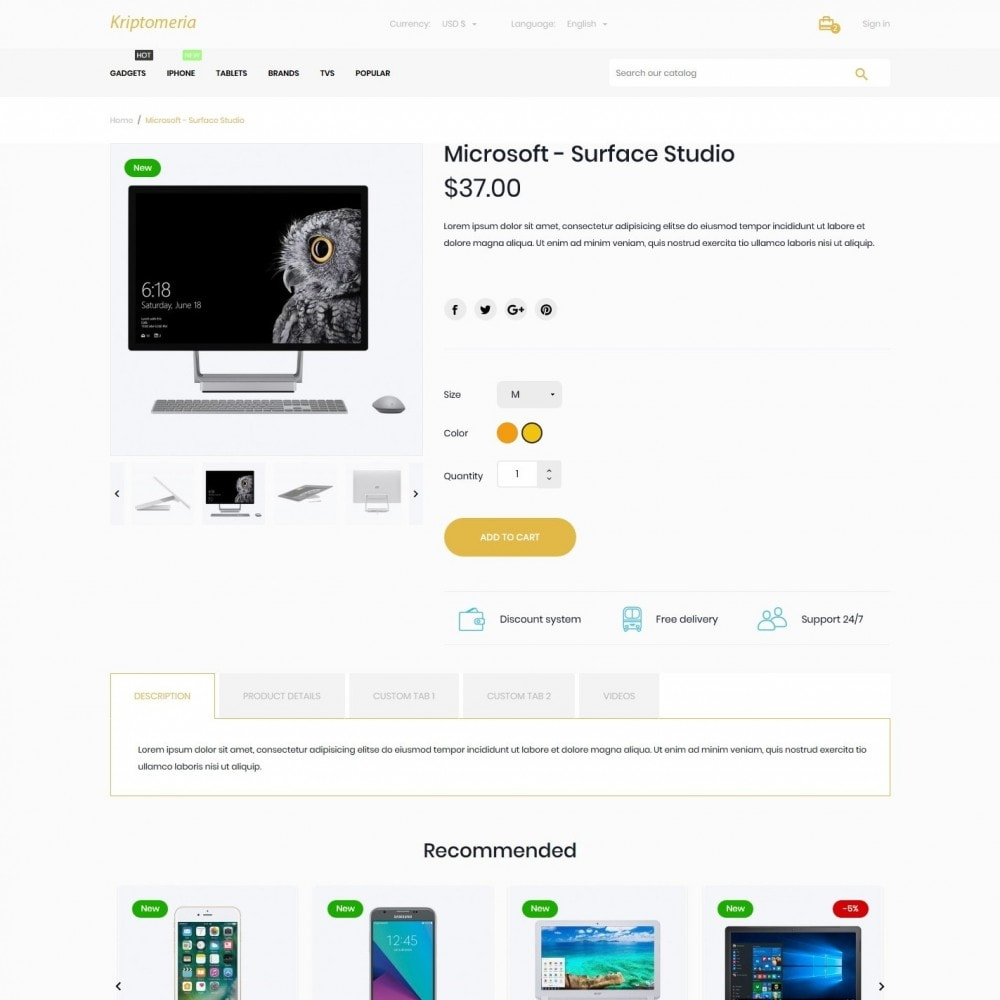 theme - Electronics & Computers - Kriptomeria - High-tech Shop - 6