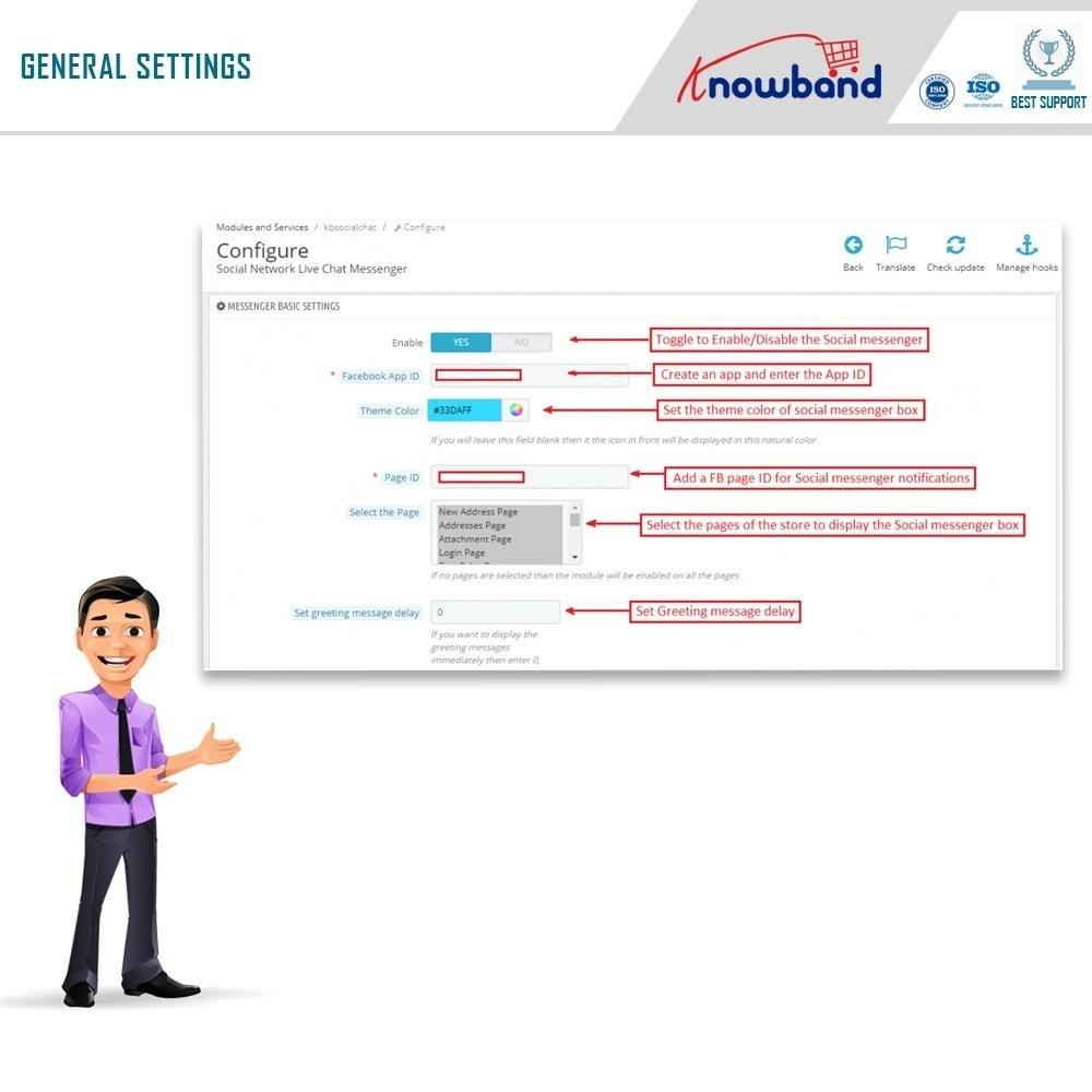 module - Поддержка и онлайн-чат - Knowband- Social Messenger, Live Chat Support - 7