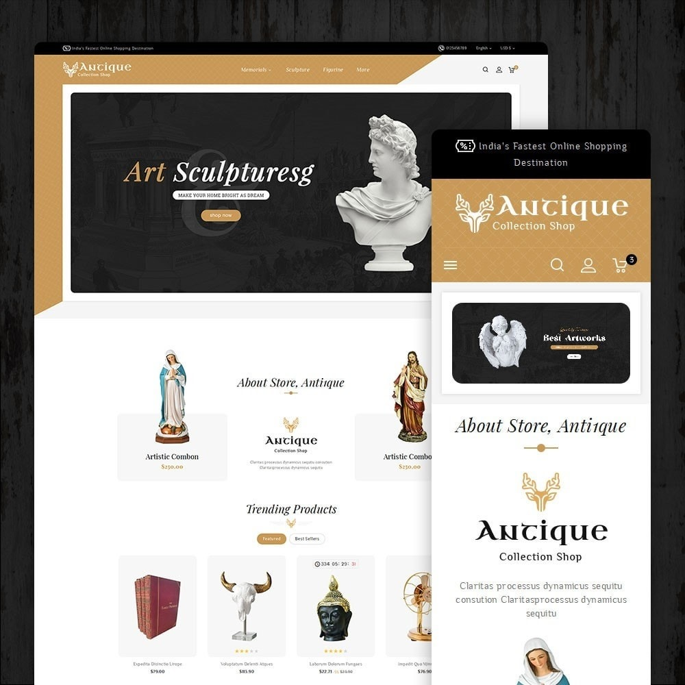 Antique Statue & Sculpture