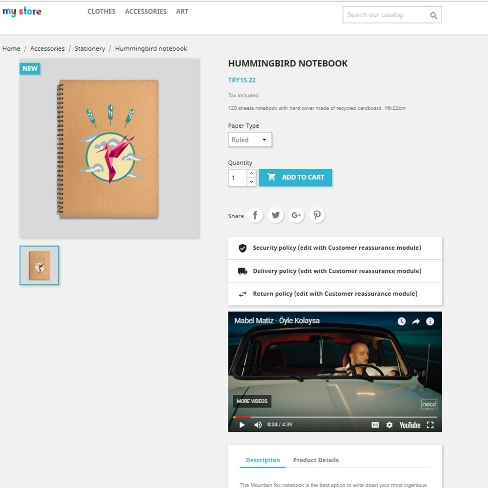 module - Wideo & Muzyka - Product Media - 2