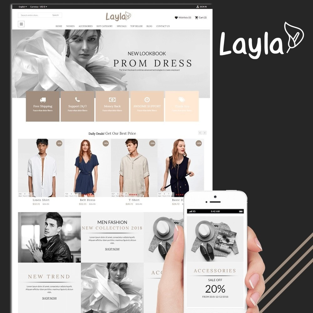 theme - Moda & Obuwie - Fashion Layla - 1