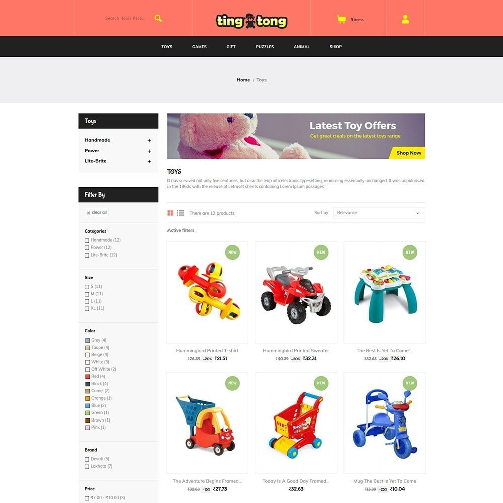 Ting Tong - Toys Store