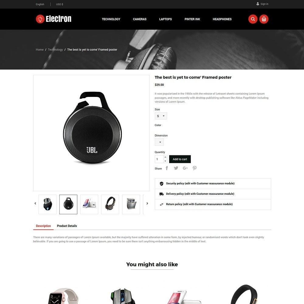 theme - Elektronica & High Tech - Electron Electronics Store - 4