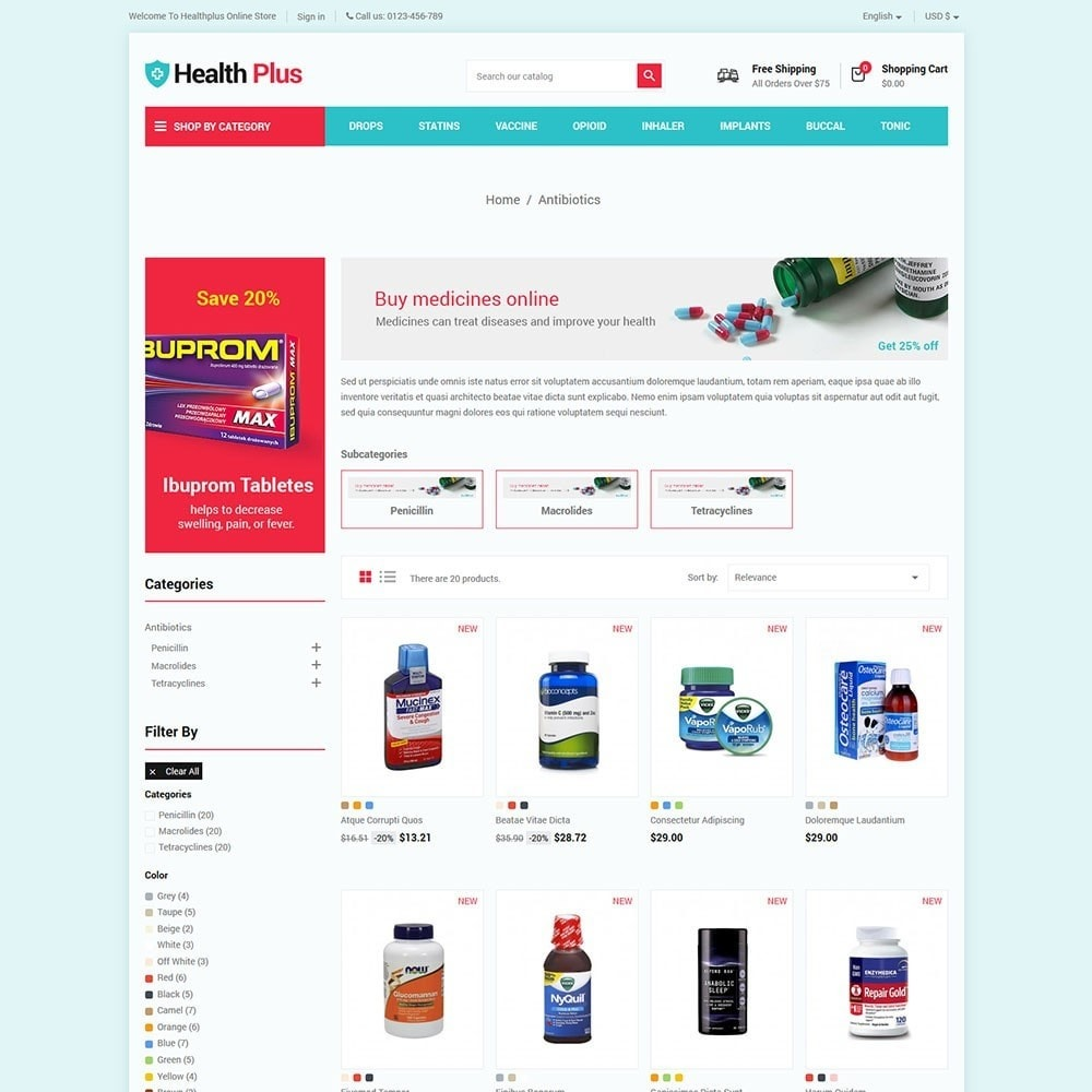 theme - Health & Beauty - Healthplus - Medicine Online Store - 3