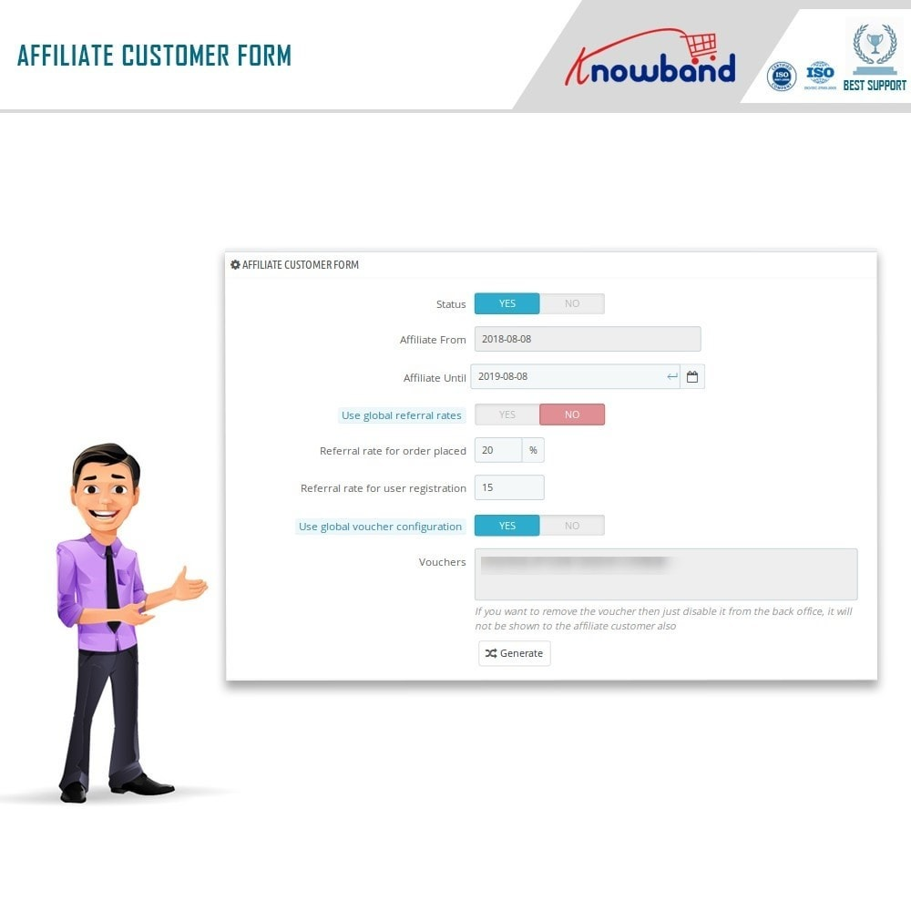 module - Programmi fedeltà & Affiliazione - Knowband - Affiliate and Referral Program - 12