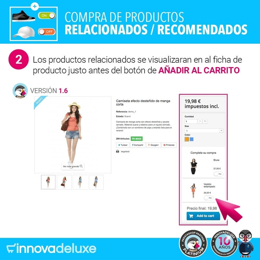 module - Ventas cruzadas y Packs de productos - Productos sugeridos para compra impulsiva - 5