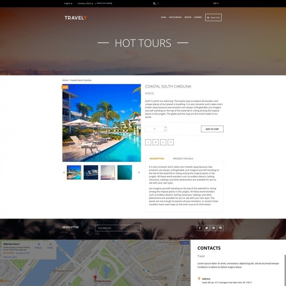 theme - Sport, Aktivitäten & Reise - Travely - Reisebüro - 4
