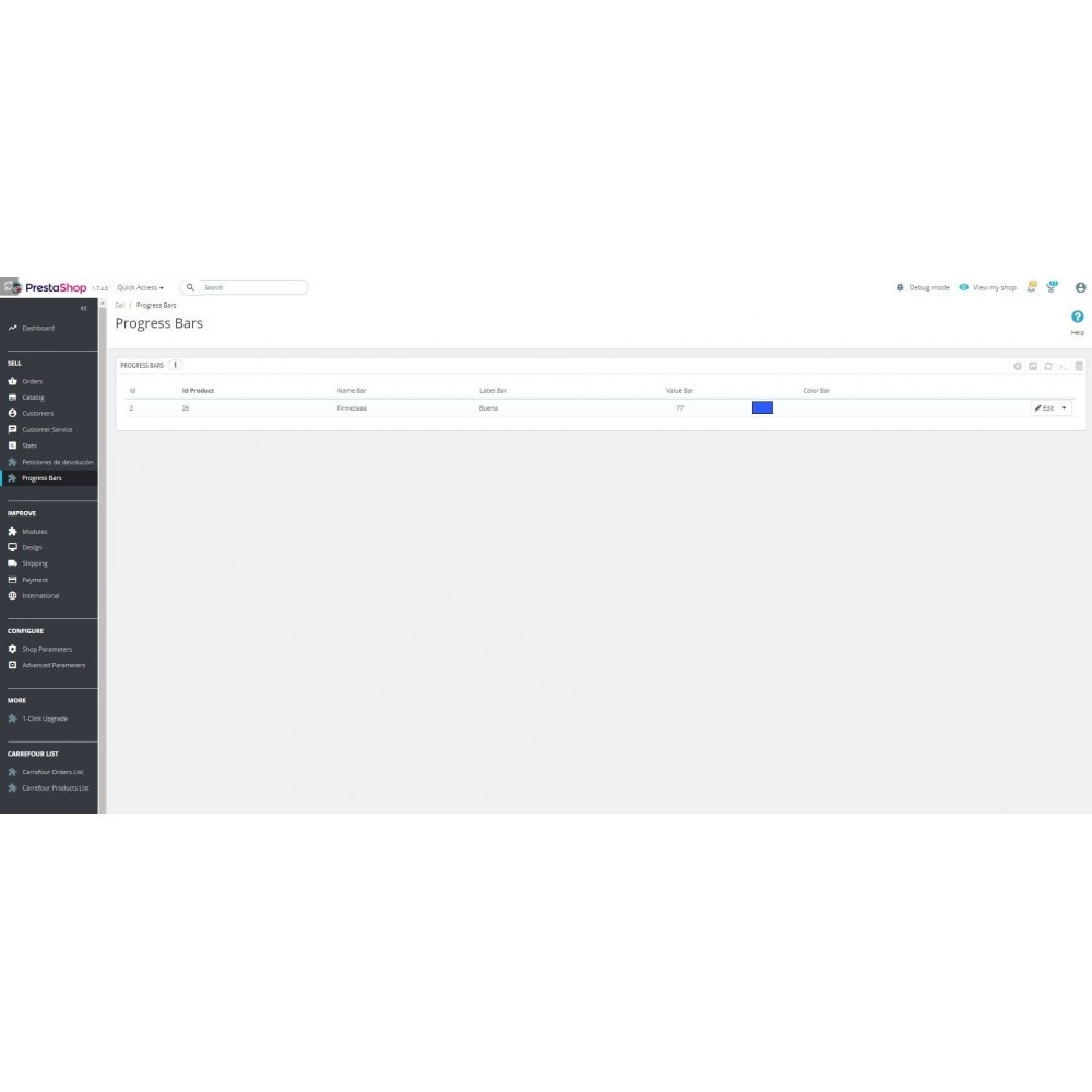 module - Блоки, вкладки и Баннеры - Progress bar on product tab - 1