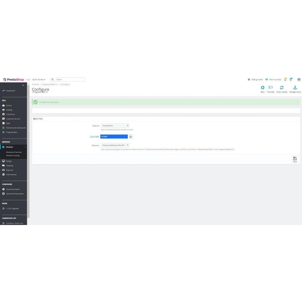 module - Блоки, вкладки и Баннеры - Progress bar on product tab - 3