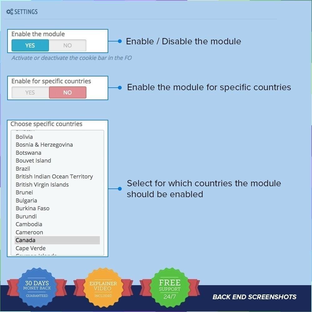module - Legale (Legge Europea) - Legge sui Cookie PRO - 2