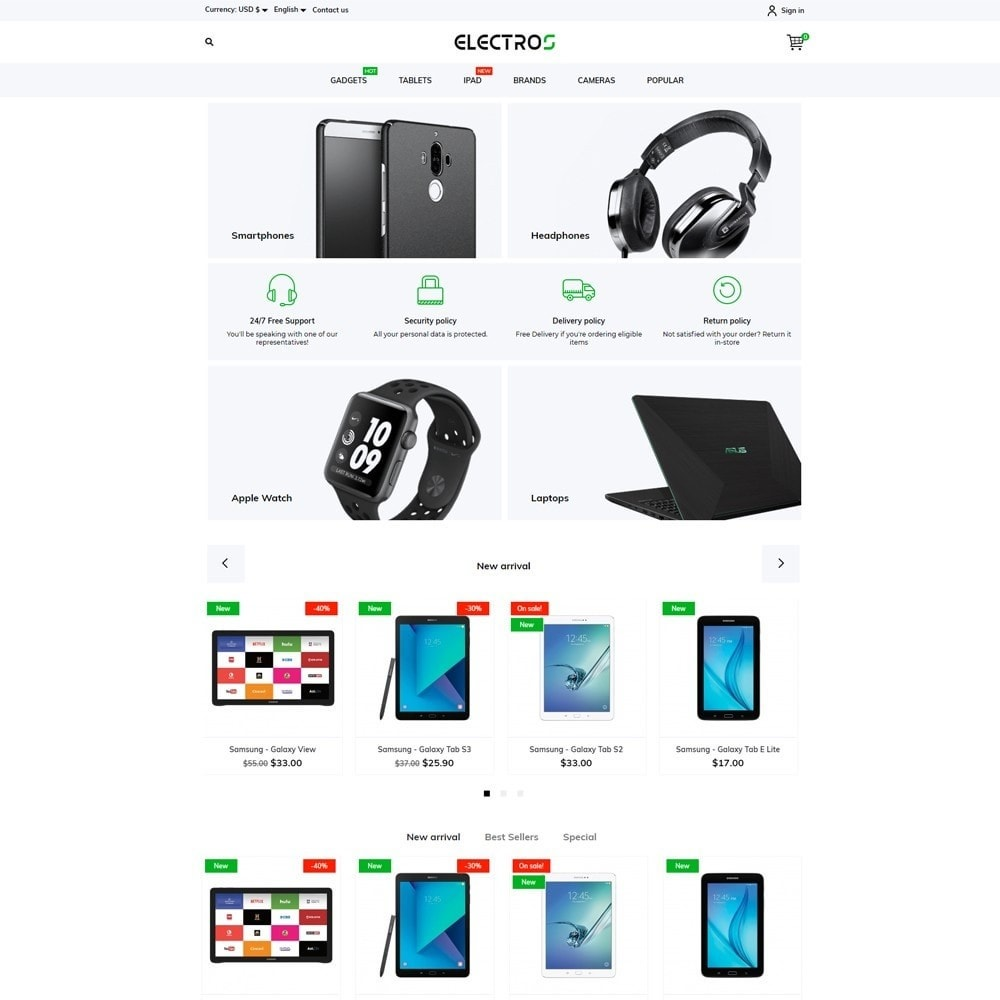 theme - Электроника и компьютеры - Electros - High-tech Shop - 2