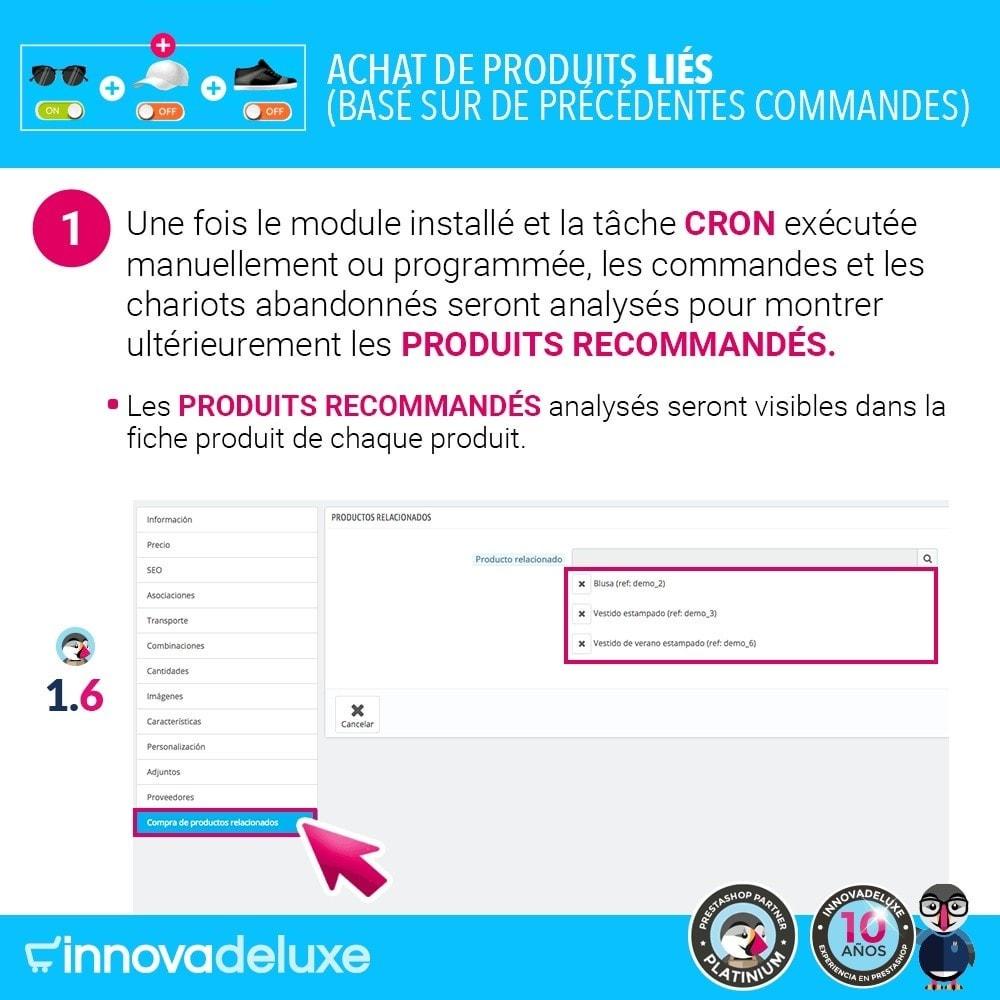 module - Ventes croisées & Packs de produits - Achat de produits liés selon les commandes précédentes - 3