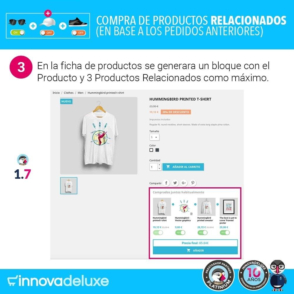 module - Ventas cruzadas y Packs de productos - Compra productos relacionados según pedidos anteriores - 6