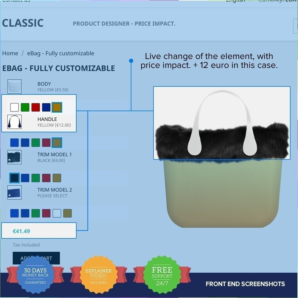 module - Déclinaisons & Personnalisation de produits - Product composer PRO - 4