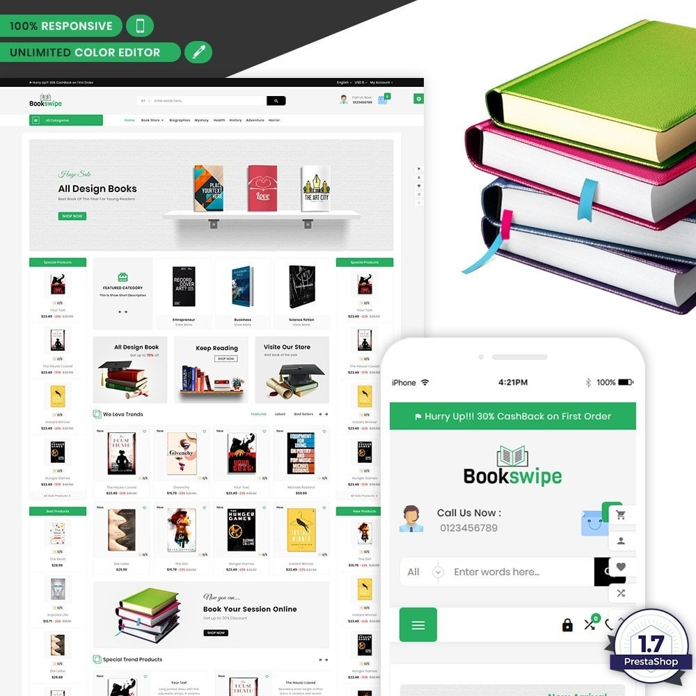 Book Swipe – The Book and Livre Mega Shop