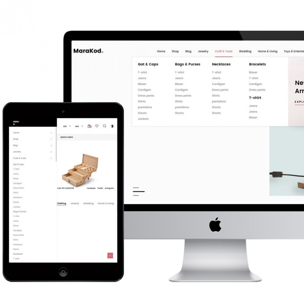 theme - Mode & Chaussures - Marakod - Minimal Handmade Theme - 3