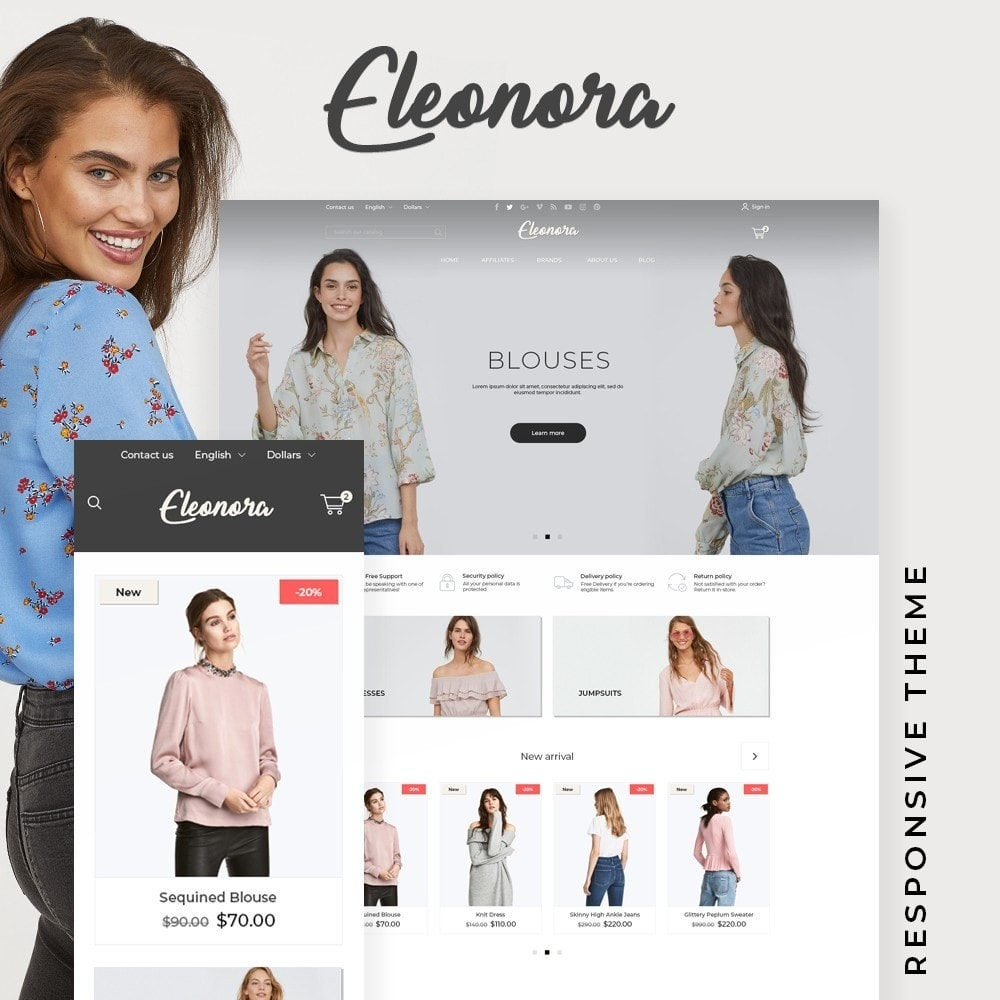 theme - Fashion & Shoes - Eleonora Fashion Store - 1