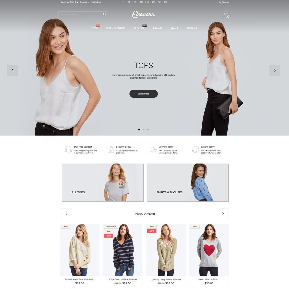 theme - Fashion & Shoes - Eleonora Fashion Store - 2