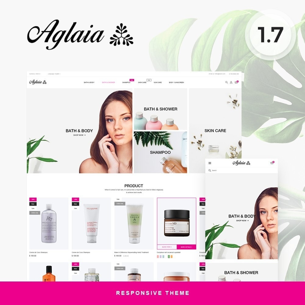 theme - Health & Beauty - Aglaia Cosmetics - 1