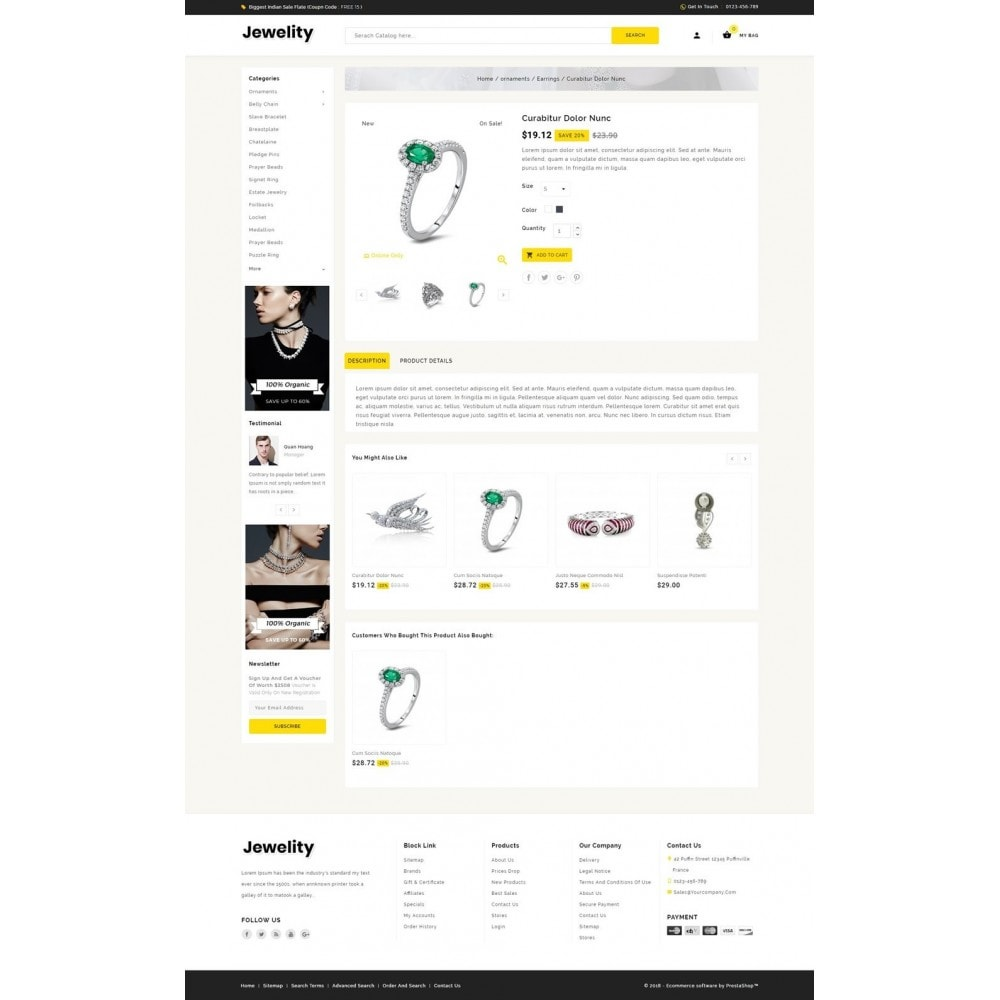 theme - Ювелирные изделия и Аксессуары - Jewelity - Jewelry Store - 4